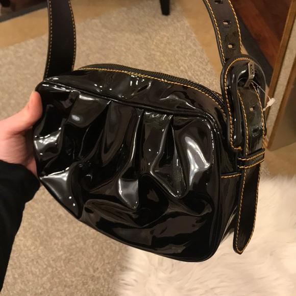a3116c82cf0fc1 Fendi Bags   Black Patent Leather Borsa Bag Never Used   Poshmark